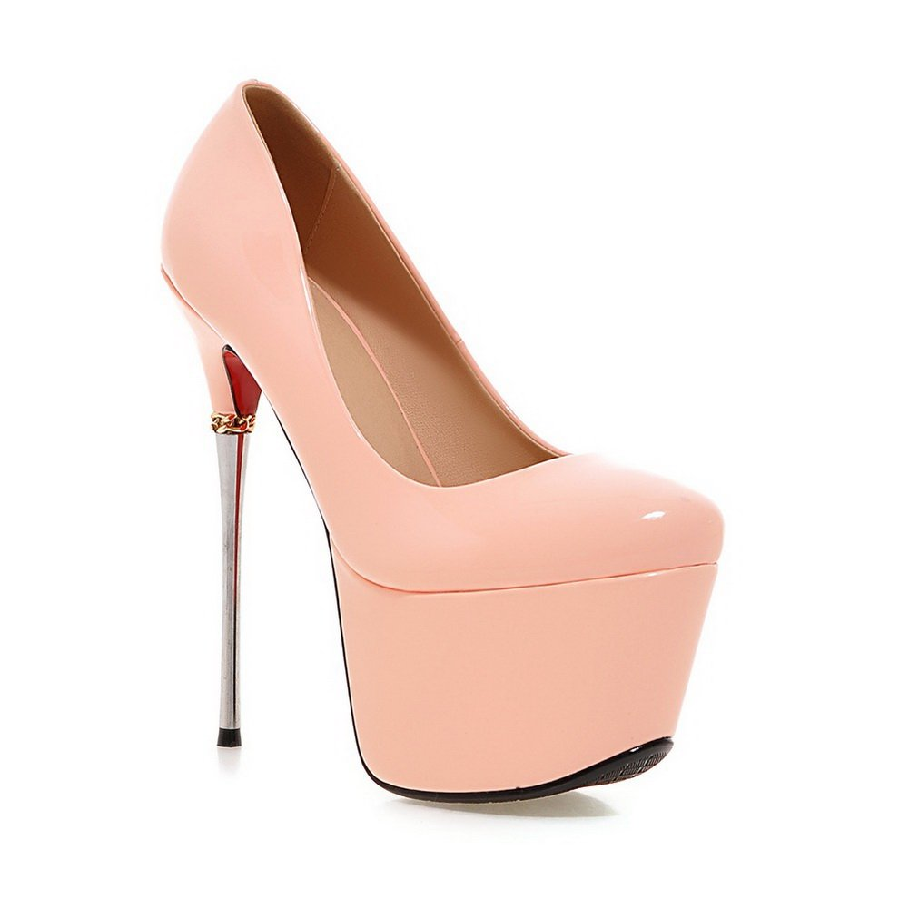 AdeeSu Girls Spikes-Stilettos Light Polyurethane Pumps Shoes B01N54Y3C3 6.5 B(M) US|Pink