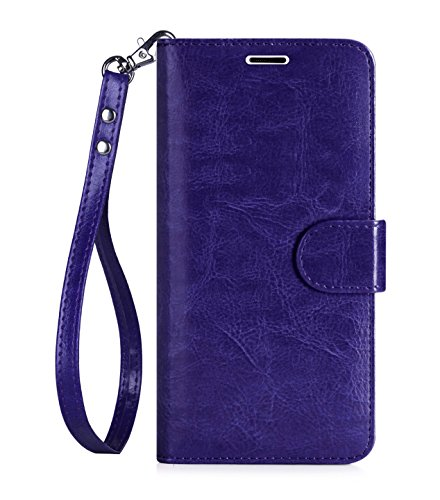 Galaxy S6 Edge Plus Case, S6 Edge Plus Case, FYY [Top-Notch Series] Premium PU Leather Wallet Case Stand Cover for Samsung Galaxy S6 Edge+(Plus) Purple