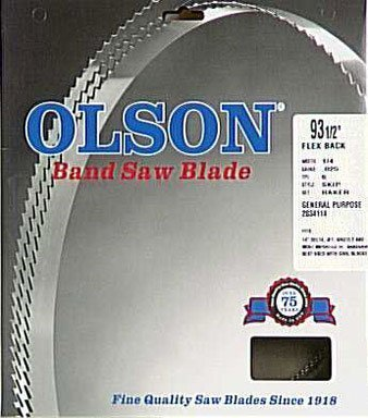 Olson Saw FB14593DB HEFB Band 6-TPI Skip Saw Blade, 1/4 by .025 by 93-1/2-Inch by OLSON SAW