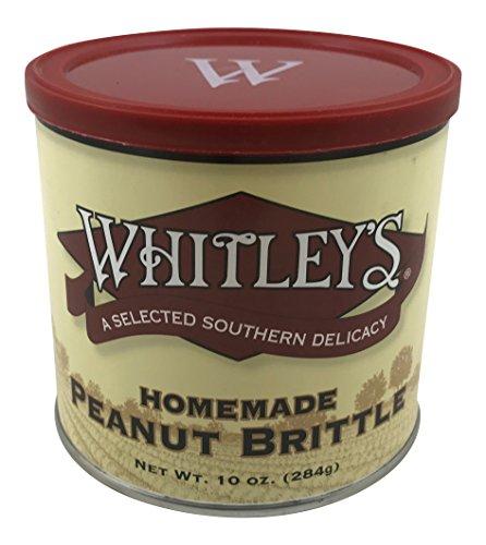 - Whitley's Homemade Peanut Brittle 10 Ounce Tin