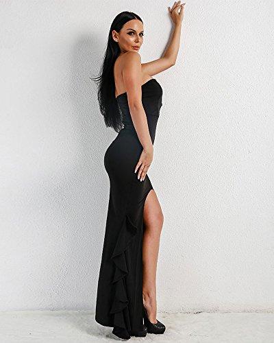 Rückenfrei Missord Schwarz Schwarz Damen Damen Kleid Missord Missord Missord Rückenfrei Damen Rückenfrei Kleid Schwarz Kleid q1TABXBw