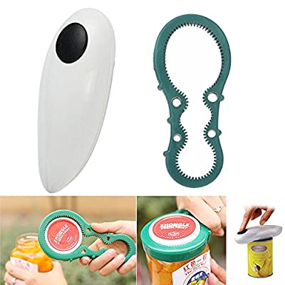 Aestar Electric Automatic One Touch Can Opener (White)