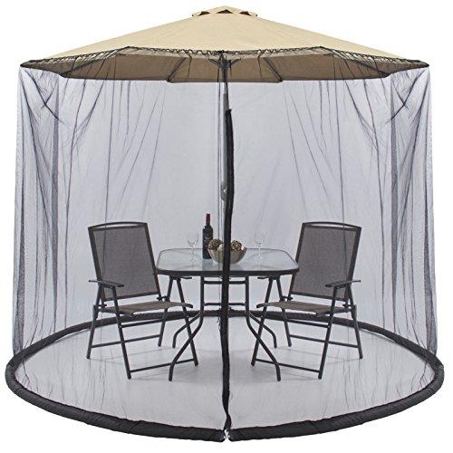 9 FT Umbrella Cover Screen Protects Bug Annoying Patio Outdoor Garden (Outdoor Toronto Installation Lights Christmas)