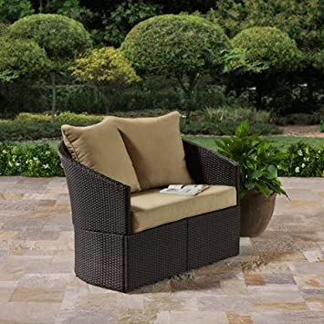 Better Homes And Gardens Cascade Falls Two Seaters Curved Loveseat Standing  Alone Wickers Steel 300 Lb