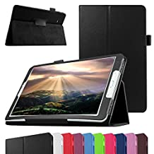 "GALAXY TAB A 7.0 Case,Mama Mouth PU Leather Folio 2-folding Stand Cover with Stylus Holder for 7"" SAMSUNG GALAXY TAB A 7.0 T280 T285 Android Tablet,Black"