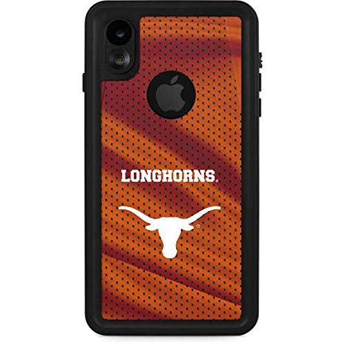 Skinit Texas Longhorns Jersey iPhone XR Waterproof Case - Officially Licensed Phone Case - Fully Submersible - Snow, Dirt, Water Protected iPhone XR Cover ()