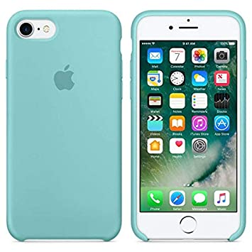 1a59c1e0b99 MyCaseSpain Funda iPhone 6 Plus, iPhone 6s Plus, Silicona Azul Turquesa  Logo Apple Carcasa Silicona iPhone: Amazon.es: Electrónica