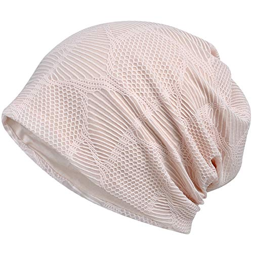 (Womens Slouchy Beanie Infinity Scarf Sleep Cap Hat for Hair Loss Cancer Chemo (Pink))