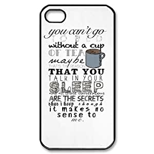 DIY Phone Case for Iphone 4,4S, One Direction Quotes Cover Case - HL-536064