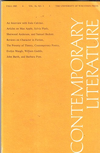 CONTEMPORARY LITERATURE Vol. 26 No. 3, Fall 1985: The University of Wisconsin Press
