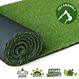 Artificial Grass Turf Lawn, 0.8inch Realistic Synthetic Grass Mat, Indoor Outdoor Garden Lawn Landscape for Pets,Fake Faux Grass Rug with Drainage Holes 5 FT x8 FT(40 Square FT)