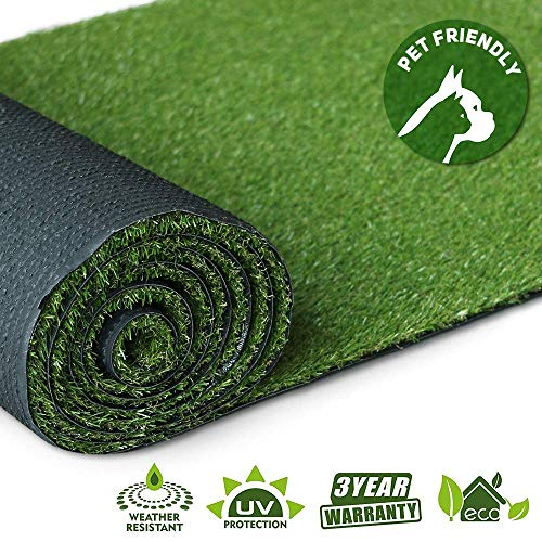 (Artificial Grass Turf Lawn - 7FTX11FT(77 Square FT) Indoor Outdoor Garden Lawn Landscape Synthetic Grass Mat)