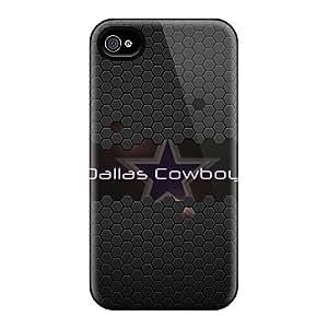 Durable Dallas Cowboys Back Case/cover For Iphone 4/4s wangjiang maoyi
