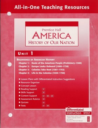 Package of 9 (Units 1-9) All-In-One Teaching Resources Prentice Hall History Of Our Nation (Prentice Hall America History Of Our Nation)