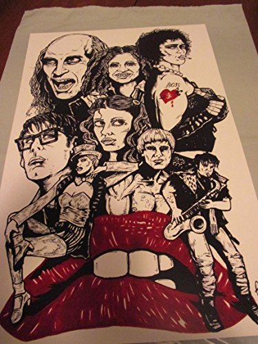 "the rocky horror picture show !! LIMITED EDITION PRINT 11"" By 17"" 'THE ART OF OLD SCHOOL 'approved Dealer"