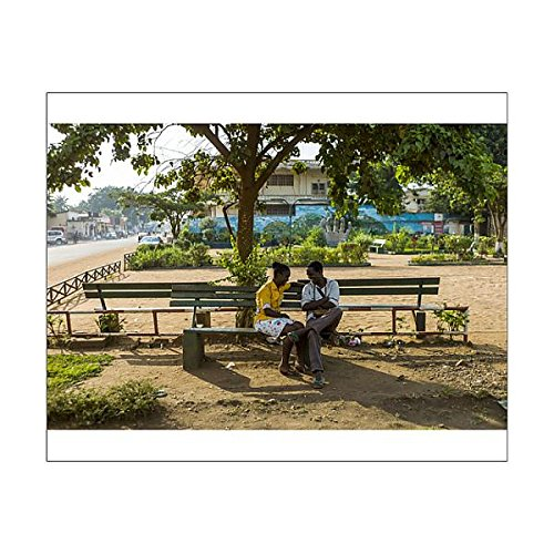 10x8 Print of A couple speaks in a park in the centre of Bangui, Central African Republic (14590566) - Bangui Central African Republic
