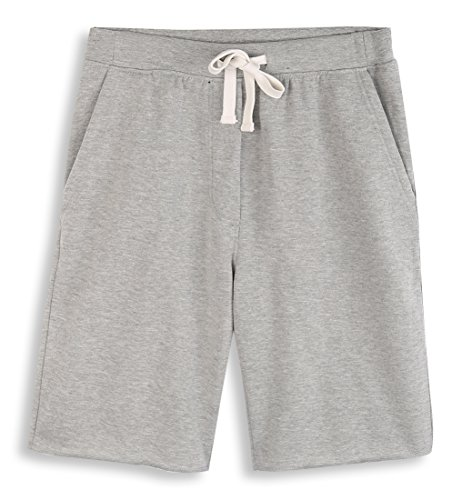 HARBETH Men's Casual Soft Cotton Elastic Fleece Jogger Gym Active Pocket Shorts Heather Gray XL