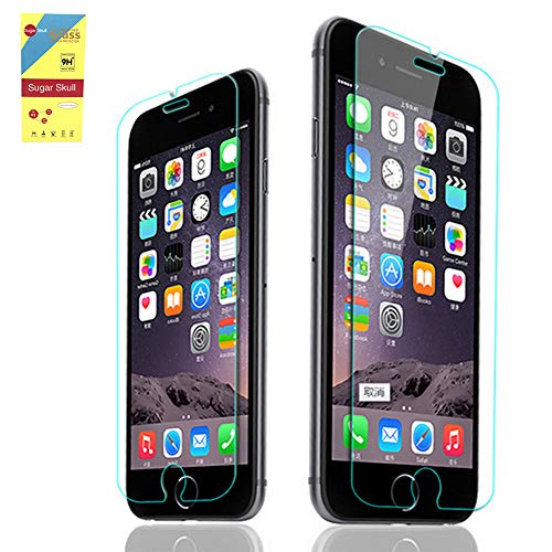 Cell Phone Screen Protector [2 PACK] Tempered Clear Glass Film 0.28mm Premium Anti-scratch Anti-fingerprint Shockproof for iPhone i8p 8 Plus