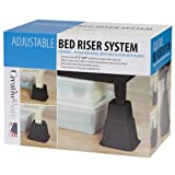 Creative Bath Products Adjustable Bed Riser System, Set of 8