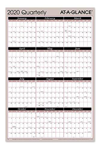 AT-A-GLANCE 2020 Quarterly Wall Calendar, 36