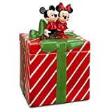 Mickey and Minnie Mouse Christmas Holiday Cookie Jar by Disney