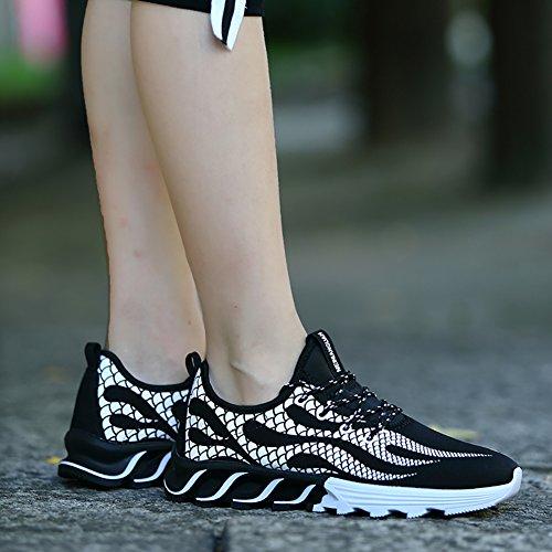 Chaussures De Course Décontractées No.66 Ville Hommes Légères Chaussures De Sport Mode Sneaker # 3 Noir (feu)