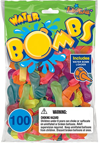 (Pioneer National Latex 100 Count Water Bombs, Neon)