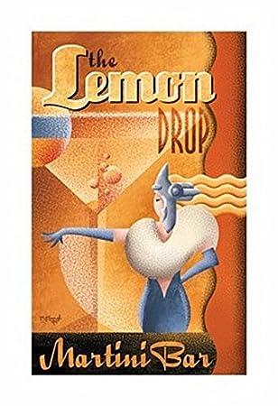 Amazon.com: Lemon Drop Martini Bar Cartel por Michael Kungl ...
