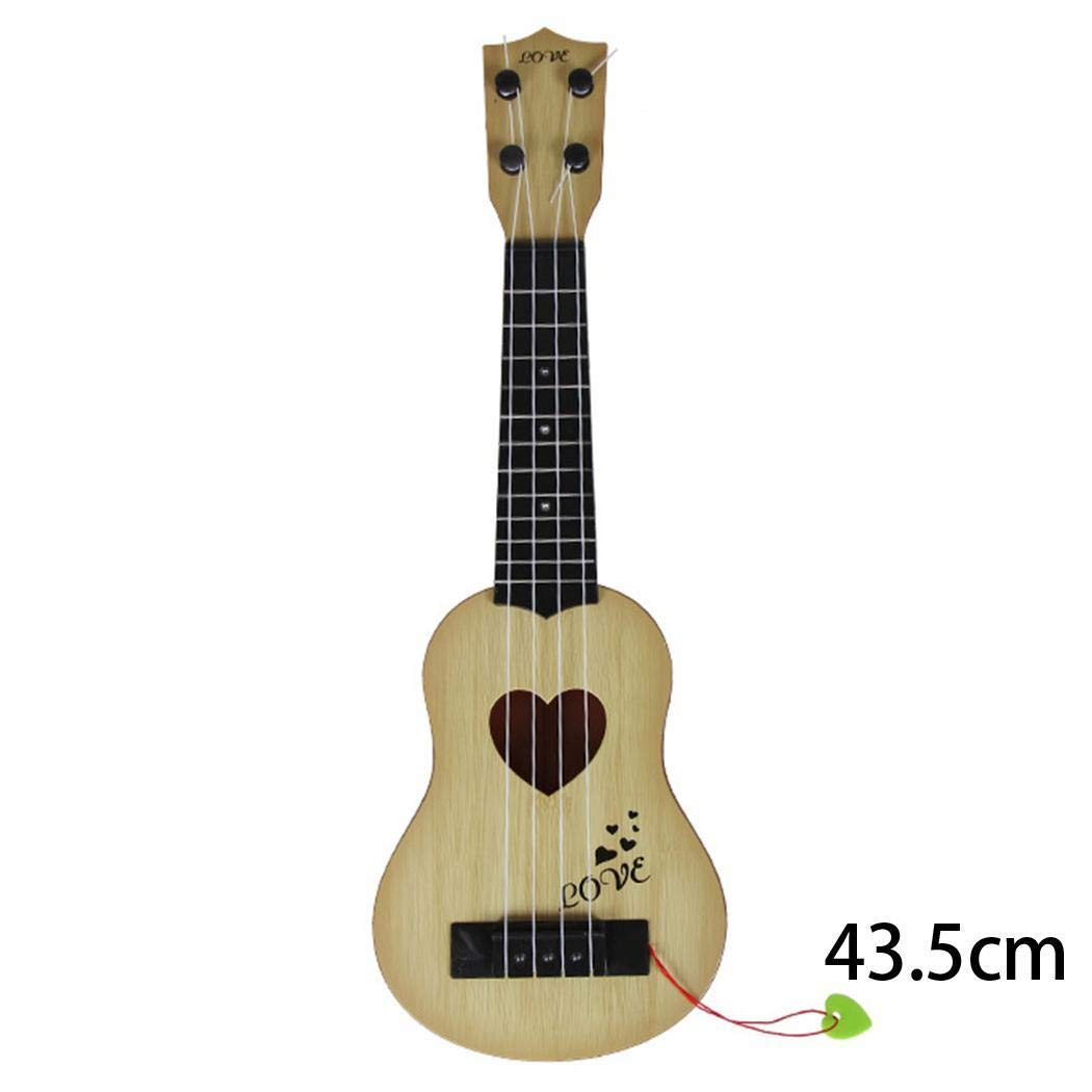 Guitar Children Mini Guitar Kid's Musical Toy Ukulele Acoustic Stringed Instrument Toy(Beige,43.5cm)