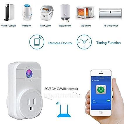 Cage Sents Wi-Fi Smart Socket, Wireless Smart Plug Power Switch ...