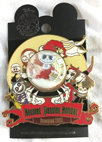 Nightmare Before Christmas Haunted Mansion Holiday Event 2003 Snow Globe Pin