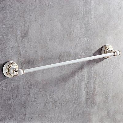 ZnzbztWc de palanca única espacio toallero con placas de aluminio pintado de color blanco para montaje