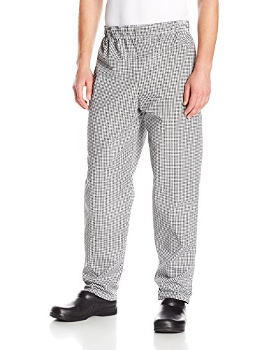 Red Kap Chef Designs Men's Baggy Chef Pant, Black/White Check, Small (Style Chef Pants)