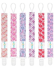 Babygoal Pacifier Clips, 6 Pack Pacifier Holder for Boys and Girls Fits Most Pacifier Styles &Teething Toys