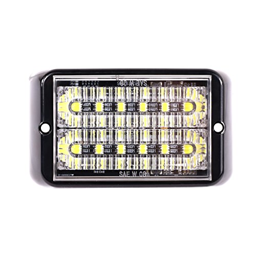 UPC 768265422837, Abrams SAE Class-1 Bold (Amber/Blue) 36W - 12 LED Emergency Vehicle Truck LED Grille Light Head Surface Mount Strobe Warning Light
