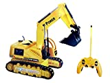 Toyshine Remote Control JCB Excavator Crain Truck with Stunts, Rechargeable