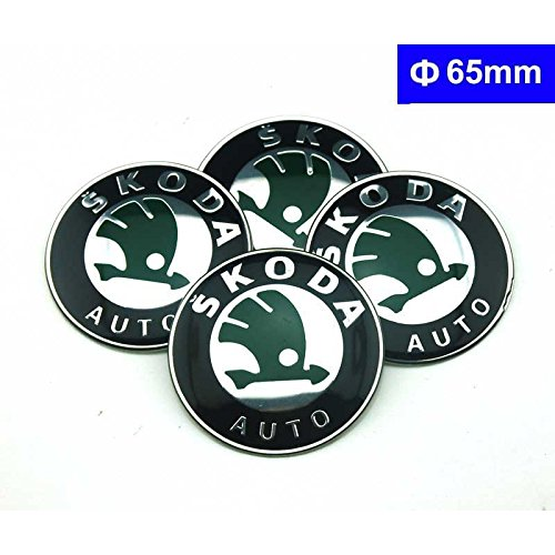 4pcs C044 65mm Car Styling Accessories Emblem Badge Sticker Wheel Hub Caps Centre Cover SKODA Octavia Fabia Superb Rapid Yeti