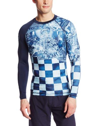 Volcom Men's Manic Long Sleeve Rashgaurd, Ice, XX-Large
