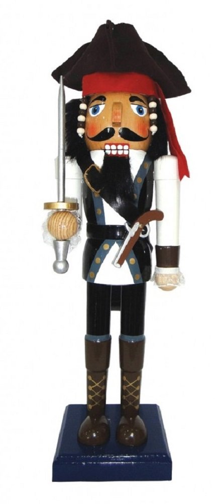 Santa's Workshop Johnny Pirate Nutcracker, 14''
