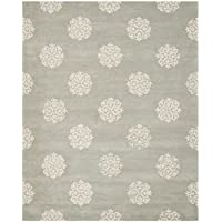 Safavieh Soho Collection SOH724C Handmade Grey and Ivory Premium Wool Area Rug (8 x 10)