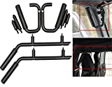 #4: Matte Black Front & Rear Grab Handle Bar Kit for 07-18 Jeep Wrangler JK Sahara Sport Rubicon X & Unlimited 4 door