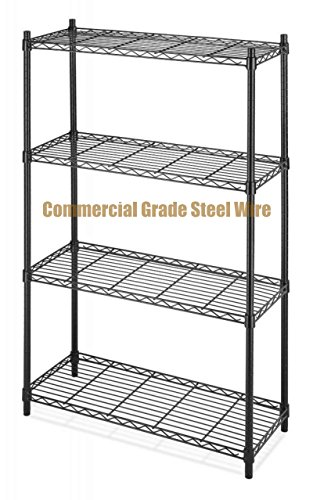 Costumes For Rent Philippines (Commercial Grade NSF 4-Tier Steel Shelving Storage Office Garage Kitchen Closet Organizer Adjustable Durable Constructed Wire Shelf - Black Finish #1166b)