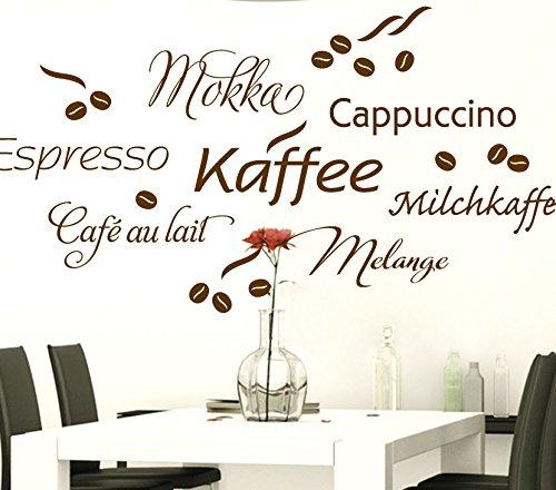 Wandtattoo-Günstig G017 Kaffee Cappuccino Espresso Milchkaffee + ...