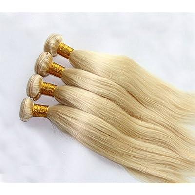 #613 Blonde Human Hair Bundles Straight Blonde Hair Extensions 100% Remy Hair Weaves 1 Bundle 20 Inch