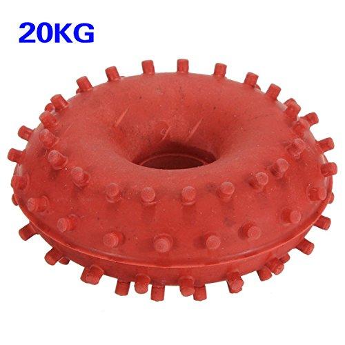 TOOGOO (R) 20 kg Grip de goma de la mano de agarre Fuerza Anillo de dispositivo de energia entrenamiento de la aptitud