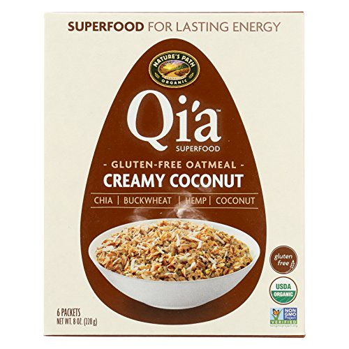 (Nature's Path Organic Qi'A Superfood Hot Oatmeal - Creamy Coconut - Case of 6 - 8 oz.)