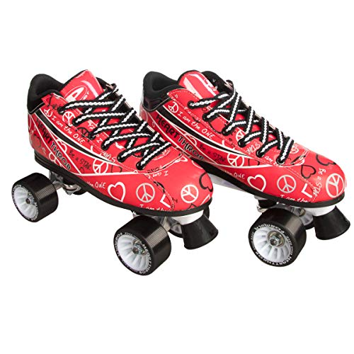 Pacer Heart Throb Roller Skates (Red, Size 6) ()