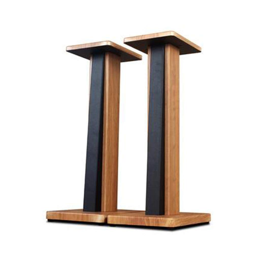 Speaker Stands Monitor Stands Bookshelf Audio Stand Stage Audio Stand Solid Surround Height 60cm A Pair Home Theatre (Color : Wood Color, Size : 233060cm) by Speaker Stands