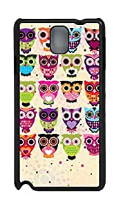 Fashion Style With Digital Art - Cartoon Owl Designs Skid PC Back Cover Case for Samsung Galaxy Note 3 N9000