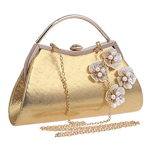 Bag Ladies Silver Clutch Evening Dress bag Fashion evening Evening Bag Gold New Banquet Flower Fly Color wnSxq4vFRS